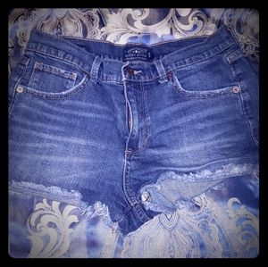 💙 Lucky Brand High Rise Shortie shorts. 28
